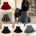 Women Sexy High Waist Skater Flared Pleated Stretch A-Line Short Mini Skirt M97