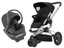 Quinny Buzz 2.0 Travel System Rocking Black with Stroller & Mico 30 Car Seat!!