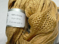 2 x 50g Decorative Frilly Tape Yarn, Camel Beige Knit/Crochet/Weave/TextileCraft
