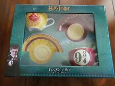 Harry Potter Ceramic Coffee Mug Tea Cup Saucer Set Platform 9 3/4 Marauder's Map