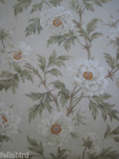 "COLEFAX AND FOWLER FABRIC DESIGN ""Tree Peony"" 10 METRES AQUA (1000 CM)"