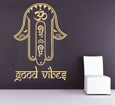 Hamsa Wall Decals Fatima Hand Good Vibes Sticker Yoga Decal Bedroom Decor kk818