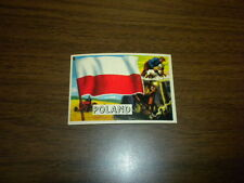 FLAGS OF THE WORLDS #49 POLAND Topps card 1956 U.S.A. Printing NICE ONE!