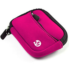 Magenta Universal Portable Holster Digital Camera Case Bag for Canon Nikon Sony