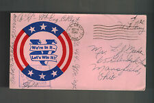 1943 USA Patriotic Cover 2nd Base PO Censored We're in It Lets Win it to Ohio
