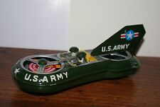 VINTAGE 1950's TIN FRICTION OPERATED U,S, ARMY SPACE TYPE MOBILE