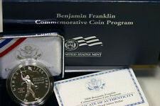 2006 Ben Franklin Scientist Proof Silver Dollar Commemorative Set Coin Box & COA