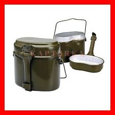 ☆ soviet russian army soldier military mess kit canteen kettle pot bowl kotelok