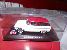 voiture miniature IXO 1/43     SIMCA P 60 RANCH DE 61