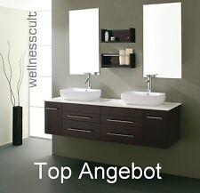 Doppelwaschbecken mit Unterschrank  Badmöbelset Doppelwaschtisch  Badkeramik Neu