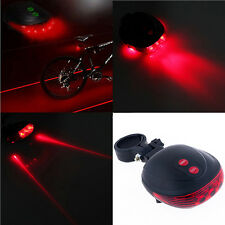 Feux arrière pour vélo 2 LASER rouge + 5 LED phare de vélo lumière accessoire
