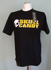 SKULL CANDY Ear/ Head Phones T-Shirt Small S NEW Black/ White/ Yellow