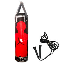 PUNCH BAG 4 FT BODY TARGET HEAVY KICK BOXING MUAY THAI MMA TRAINING FREE ROPE