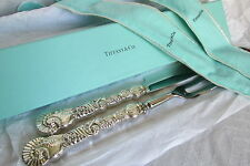 Tiffany Sterling Silver Thanksgiving Turkey Carving Knife&Fork in Original Box