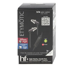 NEW GENUINE Etymotic ER23 HF2 Black In-Ear Noise Isolat Earphones Earbud Android