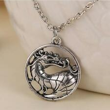 Mortal Kombat necklace dragon vintage pendant movie video game jewelry Men Women