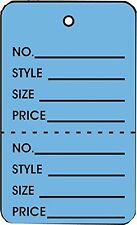 Small DARK BLUE 2 Part Perforated Price Coupon Tags / 1000 PER BOX SC9501DB