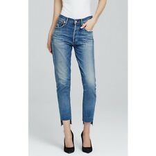 Citizens of Humanity Liya High Rise Jeans  Distressed Blue Denim