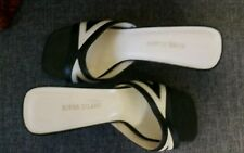 STUNNING RIVER ISLAND MULES shoes sandals SIZE 5 black and white details.