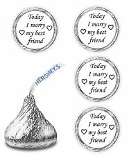 108  Today I marry my best friend wedding kisses favors decals stickers
