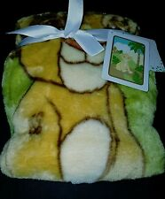 "DISNEY BABY LION KING URBAN JUNGLE LUXURY PLUSH THROW BLANKET 30""X45"""