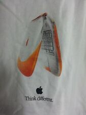 VINTAGE Tangerine/Orange Apple iBook G3 Unisex Short Sleeve Cotton T-Shirt L