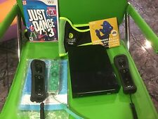 Nintendo Wii BLACK Console Game System NEW SUPER MARIO BROS Complete in Box