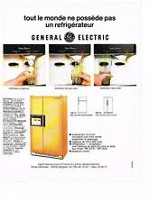 PUBLICITE  1975   GENERAL ELECTRIC   réfrigérateur éléctromenager