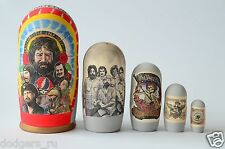 Matryoshka Russian Wooden Babushka Doll Handmade Nesting Dolls Grateful Dead