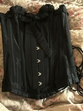 Black Overbust Steel Boned Corset