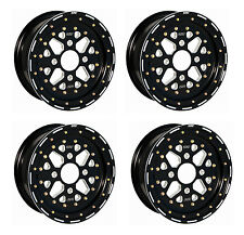 DWT SECTOR BEADLOCK FRONT REAR WHEELS BLACK 14X10 14X8 RZR XP Turbo Dune Paddle