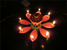Amazing Romantic Musical Lotus Birthday Candle  Birthday Candle  new  free
