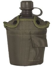 Army Combat Military Water Bottle US GI British Olive Green Waist Belt Pouch