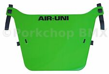 Air-Uni old school BMX bicycle XL Number Plate original 1980's molds LIME GREEN