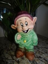 RARE  Made in Japan Japon Disney Snow White Dwarf Dopey Figurine Statue