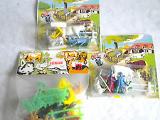 1970s seaside shop vintage plastic Farm sets and animals x 3