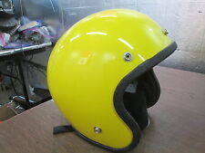 Vintage '76 Open Face Yellow Small Motorcycle Motocross All Sport Helmet RN45573