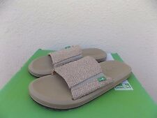 SANUK NATURAL VAGABOND SLIDE SIDEWALK SURFER SHOES/ SLIDES, US 8/ EUR 41 ~NWT