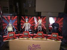 "STAR WARS Large 6"" Figures LOT OF 4 Figures By Applause NEW Unopened 1999"