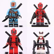 4pcs Deadpool & Deathstroke Mini Figure Super Hero Lego Building Toy