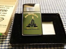 VINTAGE ZIPPO HP CHROME WALT DISNEY PRODUCTIONS SLIM LIGHTER 1981