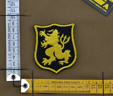 """Ricamata / Embroidered Patch Devgru """"Lion Small"""" Black with VELCRO® brand hook"""
