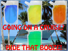 4 PACK PLASTIC 8 OZ CLEAR HIDDEN FLASK SET CRUISE RUM SPORTS CONCERTS RUNNERS