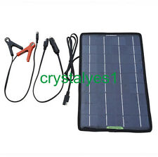 Solar Panels 10W 12V Photovoltaic  Battery Charger For Motorcycle Car Ship C AU