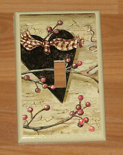 BLACK HEART BERRIES VINE SINGLE TOGGLE SWITCH PLATE COVER # 2