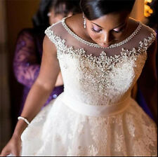 2016 White/Ivory Lace Plus Size Wedding Dress Bridal Gown Custom 18 20 22 24 26+