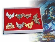Game League of Legends Crystal Decorated Badge 7pc Set