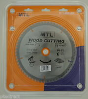 MTL brand 216mm x 60T x 30mm bore TCT Circular Mitre Chop Saw Blade for Wood