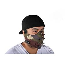 Motorcycle Biker Camouflage Spiked Face Mask Adjustable Straps Spikes Textile