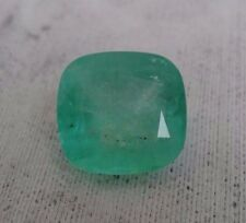 SALE 19.43 Ct Natural Colombian Emerald Loose Gemstone Cushion Cut Medium Green
